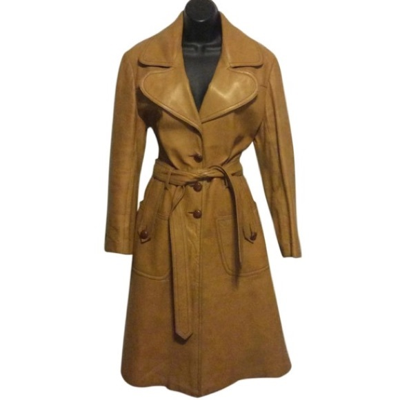 Maquette Jackets & Blazers - Maquette Vintage 1970's Leather Trench